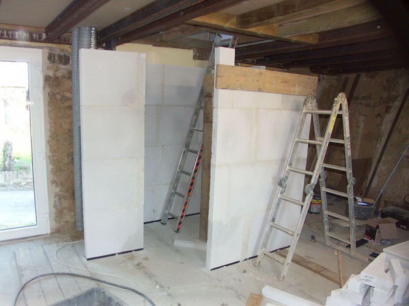 Montage de la cage d'escalier de 1er au 2ème