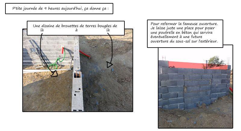 Finalisation des murs