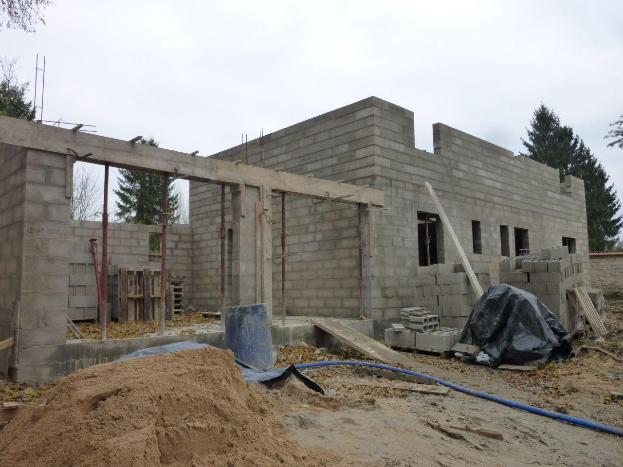 élévation murs étage