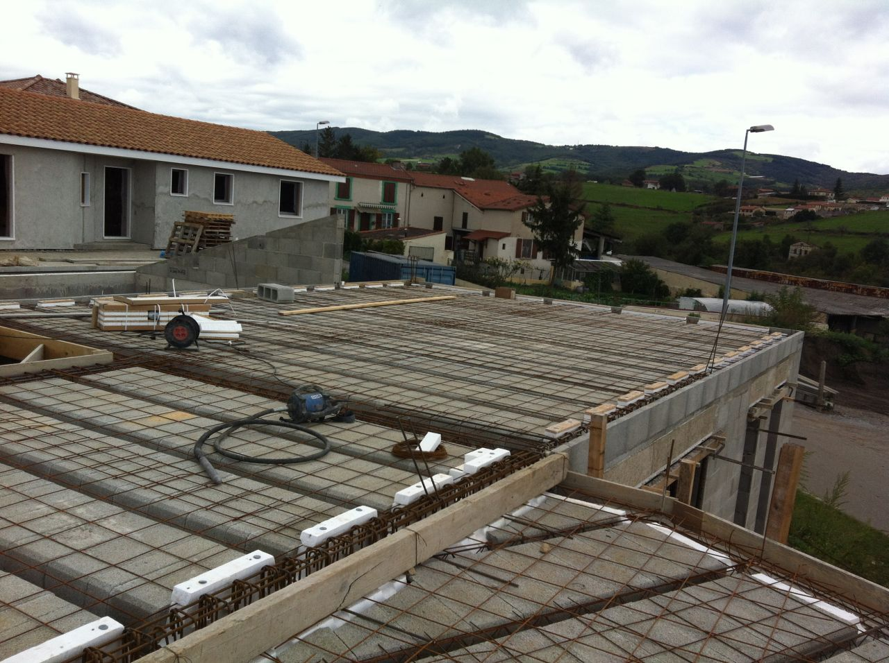 Photo coulage plancher fondations vide sanitaire for Coulage plancher