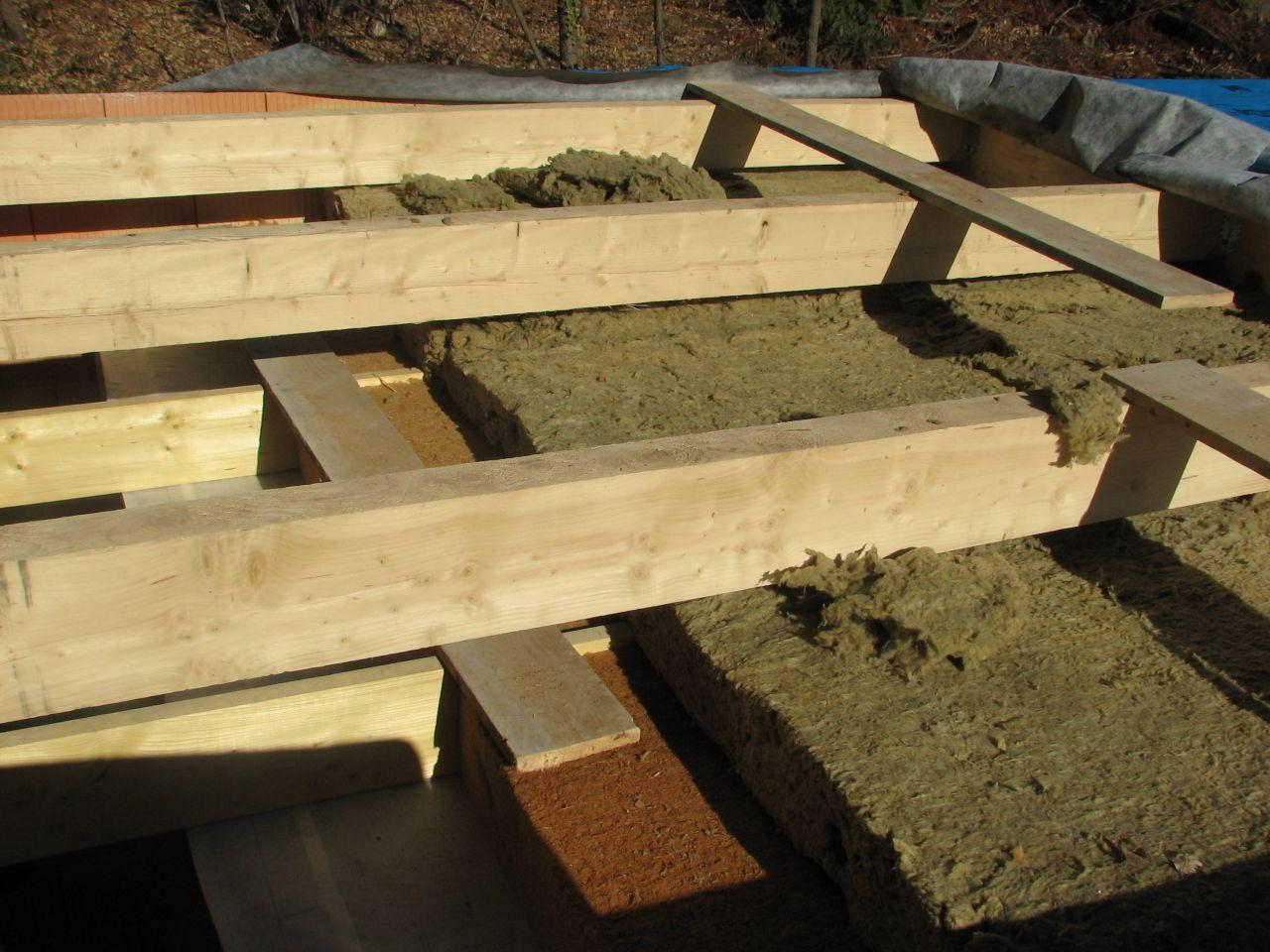 Parevapeur/20cm laine de bois/20cm laine de roche/pare pluie/Bac acier