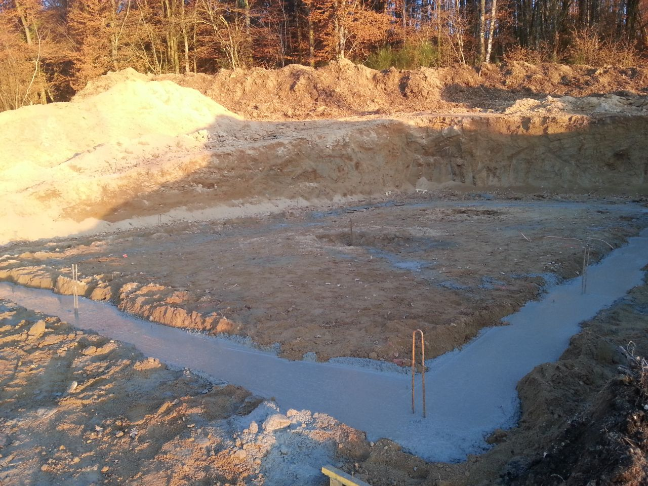 Les fondations coulées