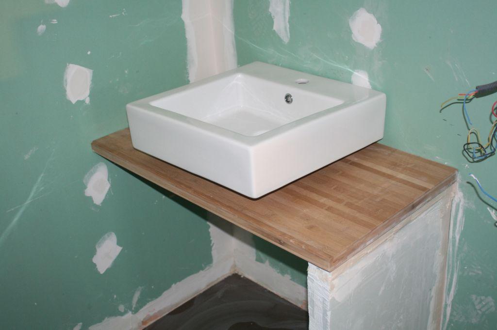 Quelle hauteur meuble salle de bain 7 messages - Faire son plan de travail soi meme ...