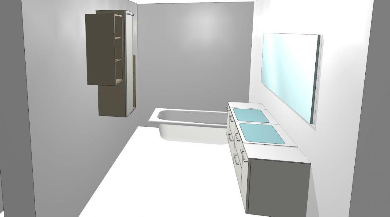 Perspective de la salle de bain R 1
