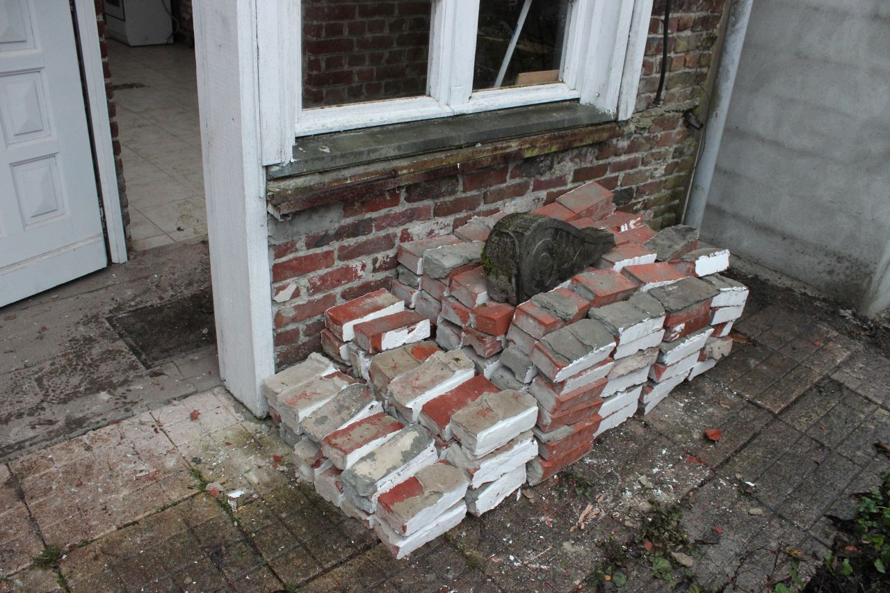 quelques briques sauvées
