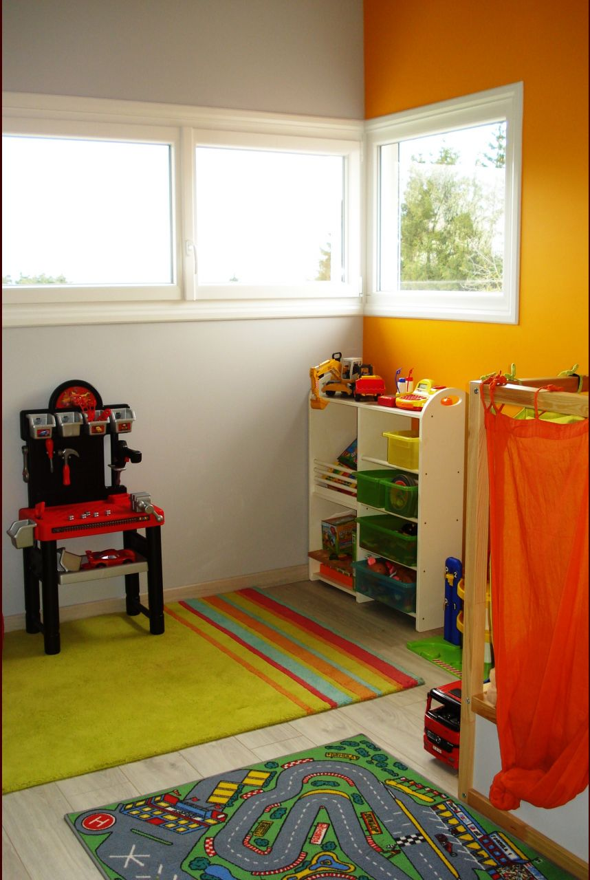 Photo chambre d 39 enfant 12m2 ambiance petit gar on haute for Decoration chambre 12m2