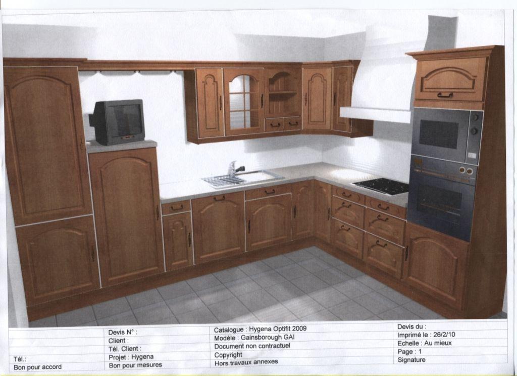 Les projets implantation de vos cuisines 8825 messages for Meuble cuisine hygena