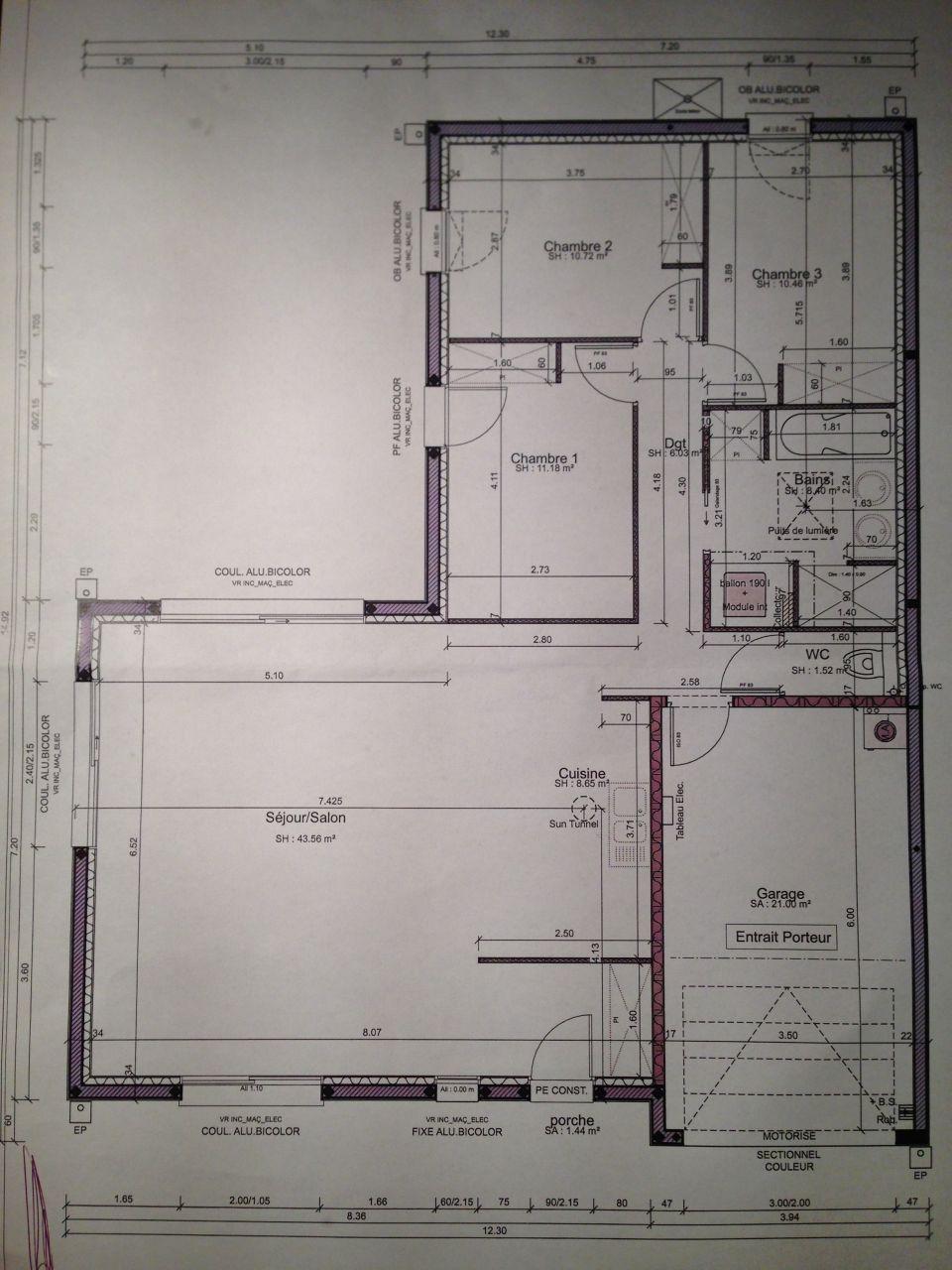 Plan de notre futur maison