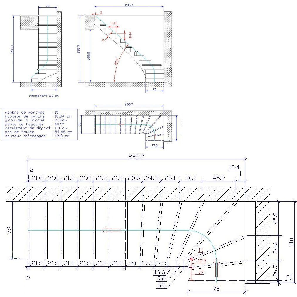 D pose et repose d 39 un escalier b ton 9 messages for Plan construire un escalier