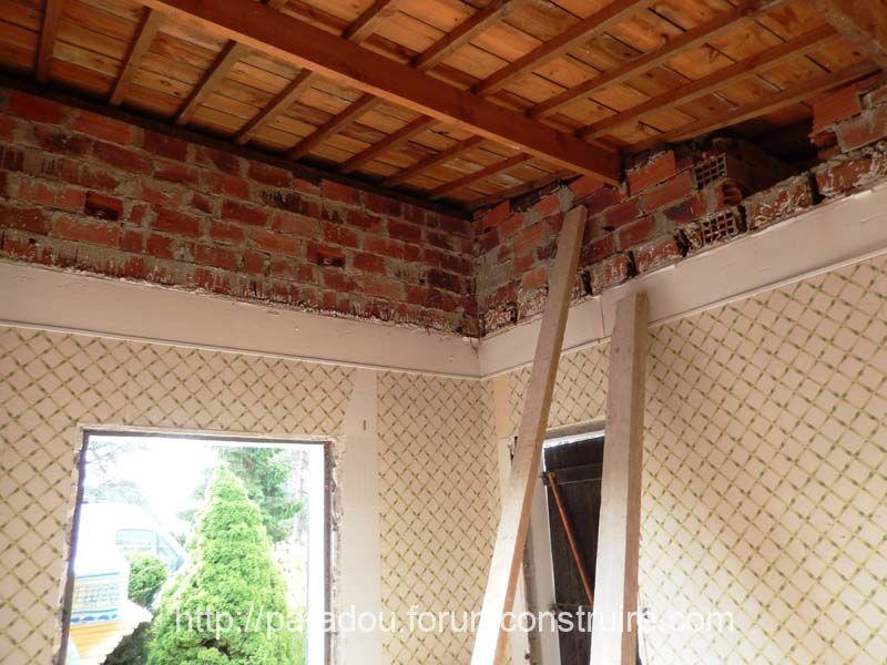 D�©molition du plafond salon