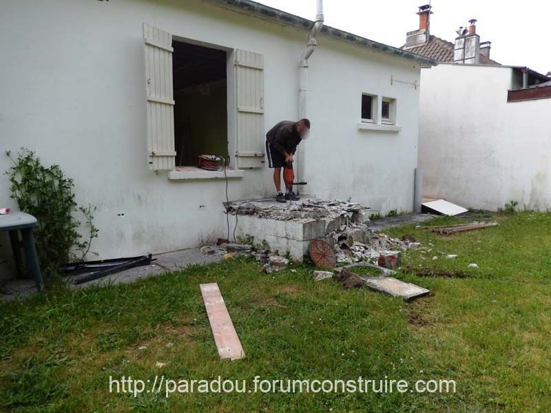 Demolition bac degraisseur