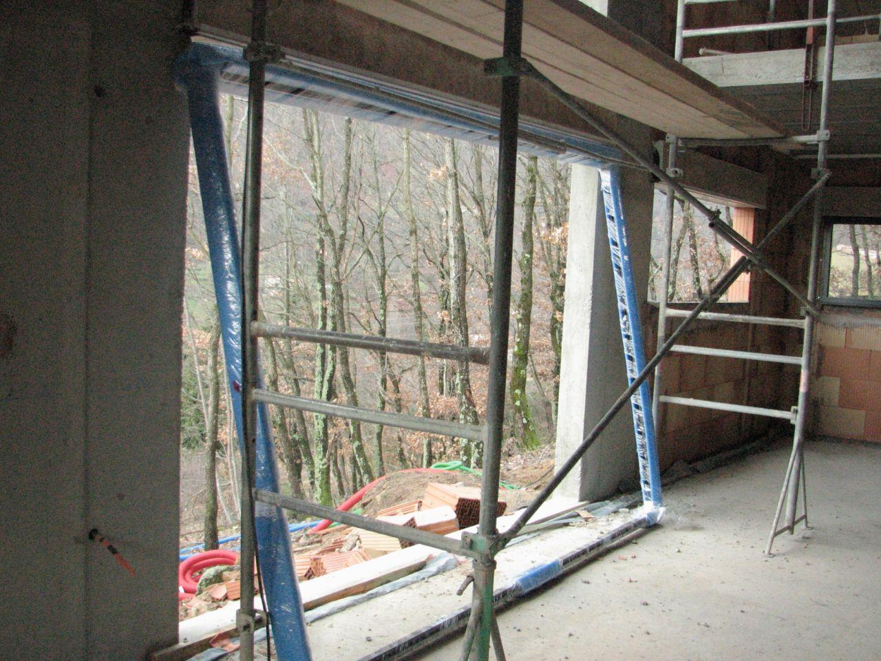 Cadre pour la baie vitree