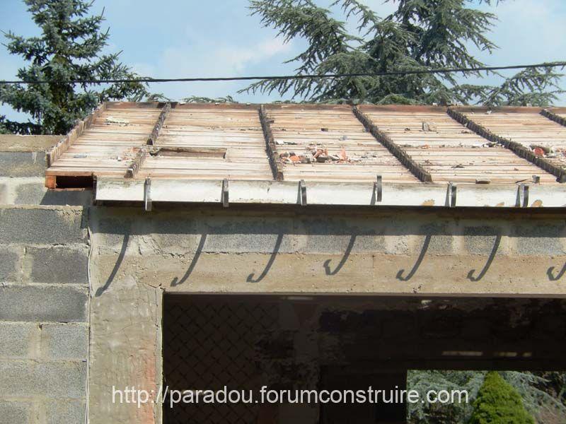 démontage de la toiture existante
