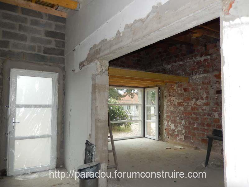 Mezzanine Salon pose plancher et nouvelle porte d\'entrée
