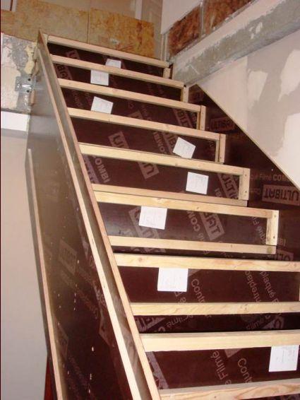 Escalier cr maill re choix des adjuvants pour b ton - Coffrage escalier beton quart tournant ...