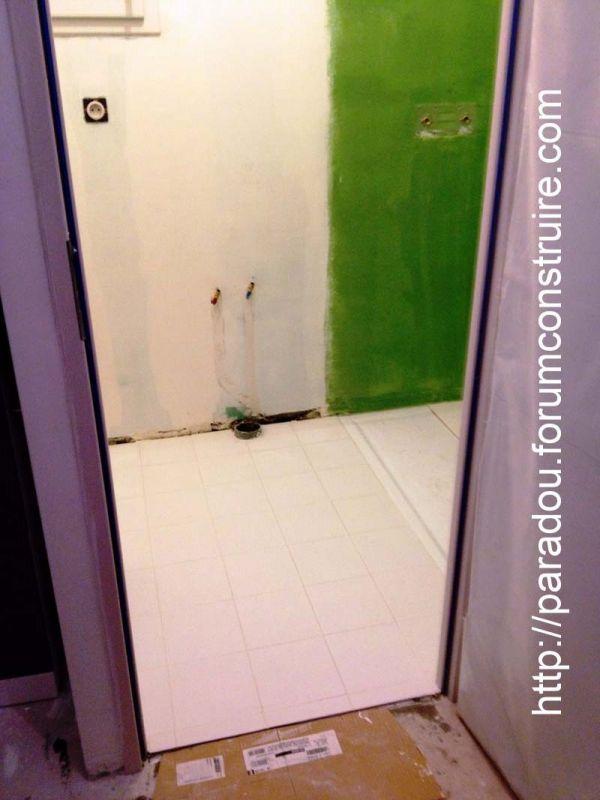 carrelage de la salle de douche du studio