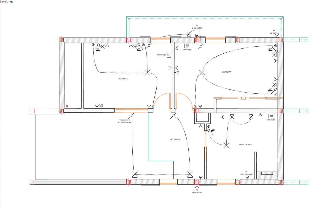 plan lectrique tage - Plan Electrique Salle De Bain