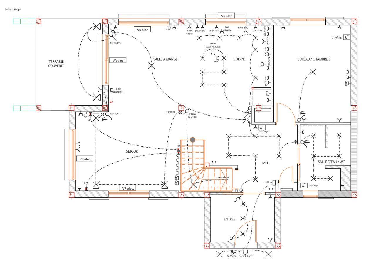 plan électrique rez de chaussée