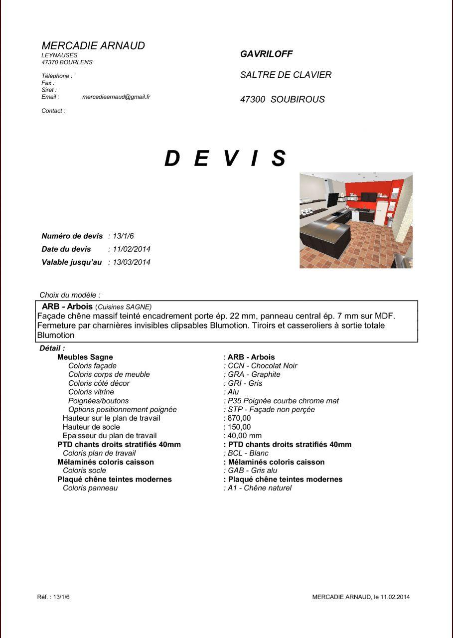 avis devis cuisine sagne - 37 messages - Hauteur D Un Plan De Travail De Cuisine