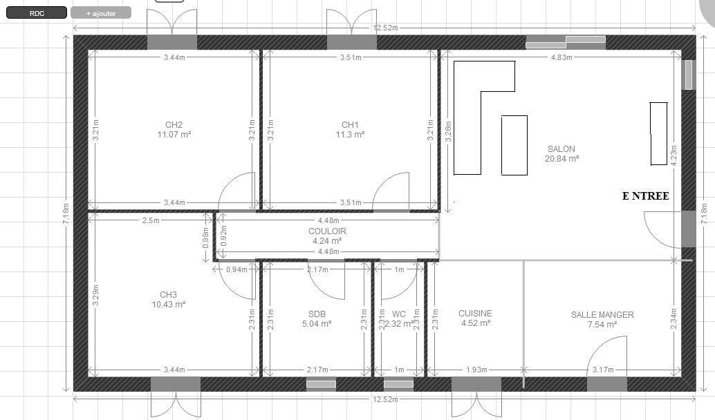 Quel co t pour la construction d 39 une telle maison rt2012 15 messages - Plan d agrandissement de maison ...