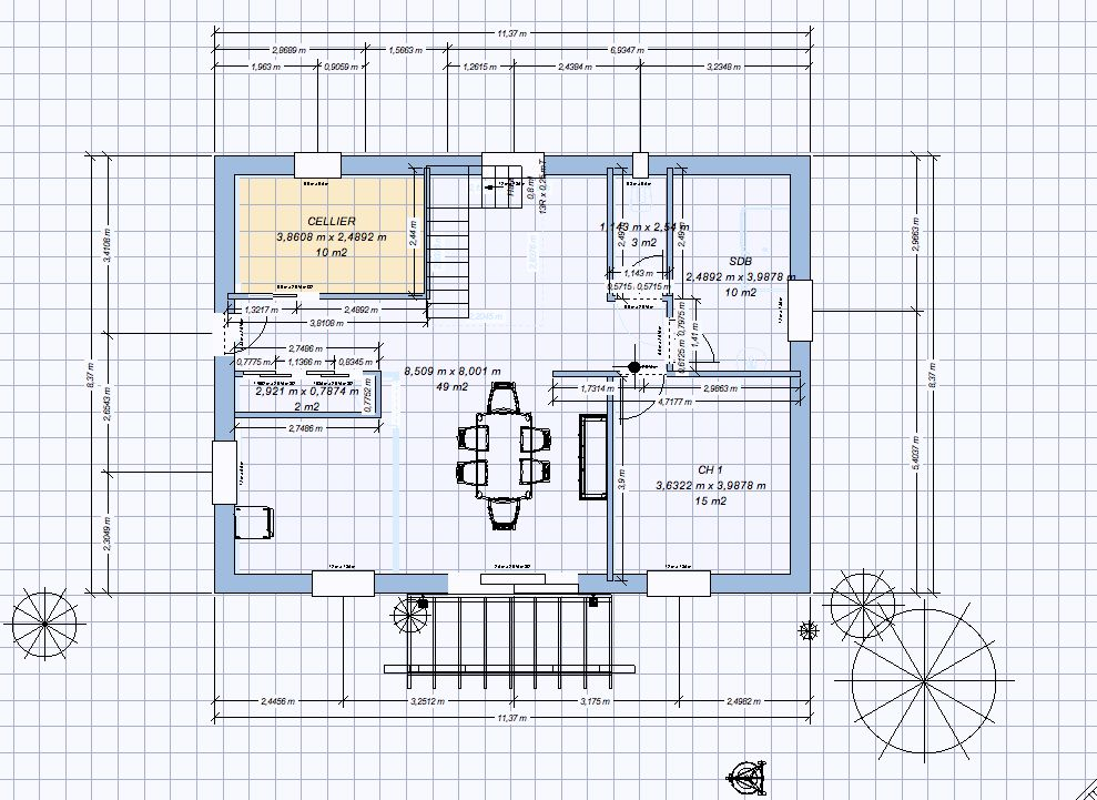 Avis plan de maison r 1 27 messages for Plan piece a vivre 40m2