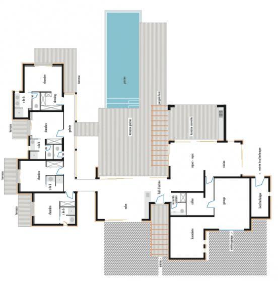 Votre avis sur le premier plan maison plain pied 200m2 for Plan maison californienne