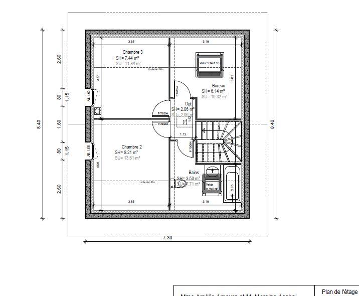 plan de maison 96m2