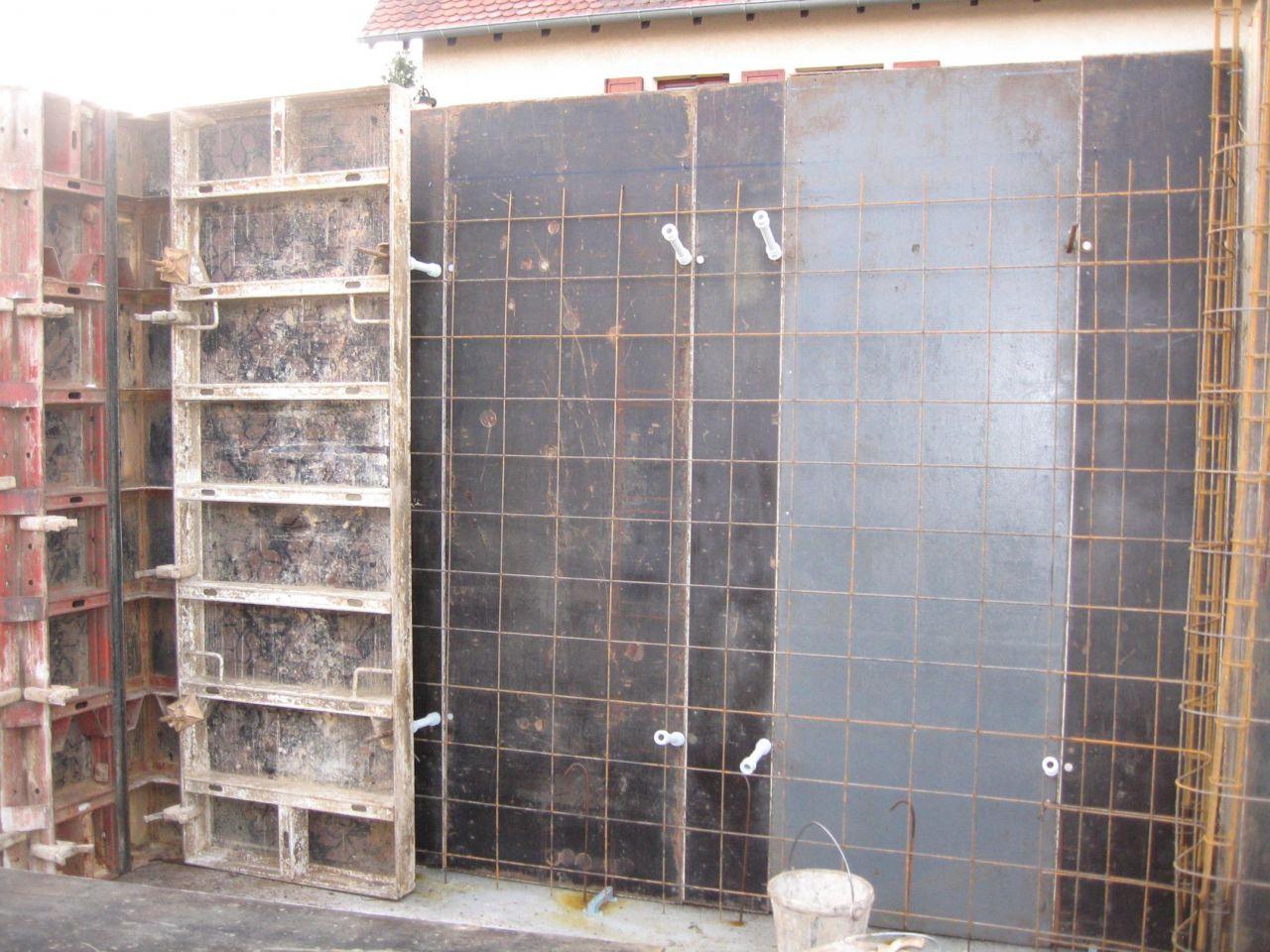 Vue de coupe des murs en béton banché