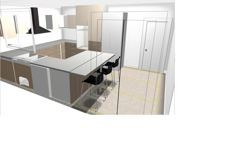 Cuisine Blanche Tomette :  des murs du ss sol  Cuisine Ikea  Elevation des murs, Yvelines