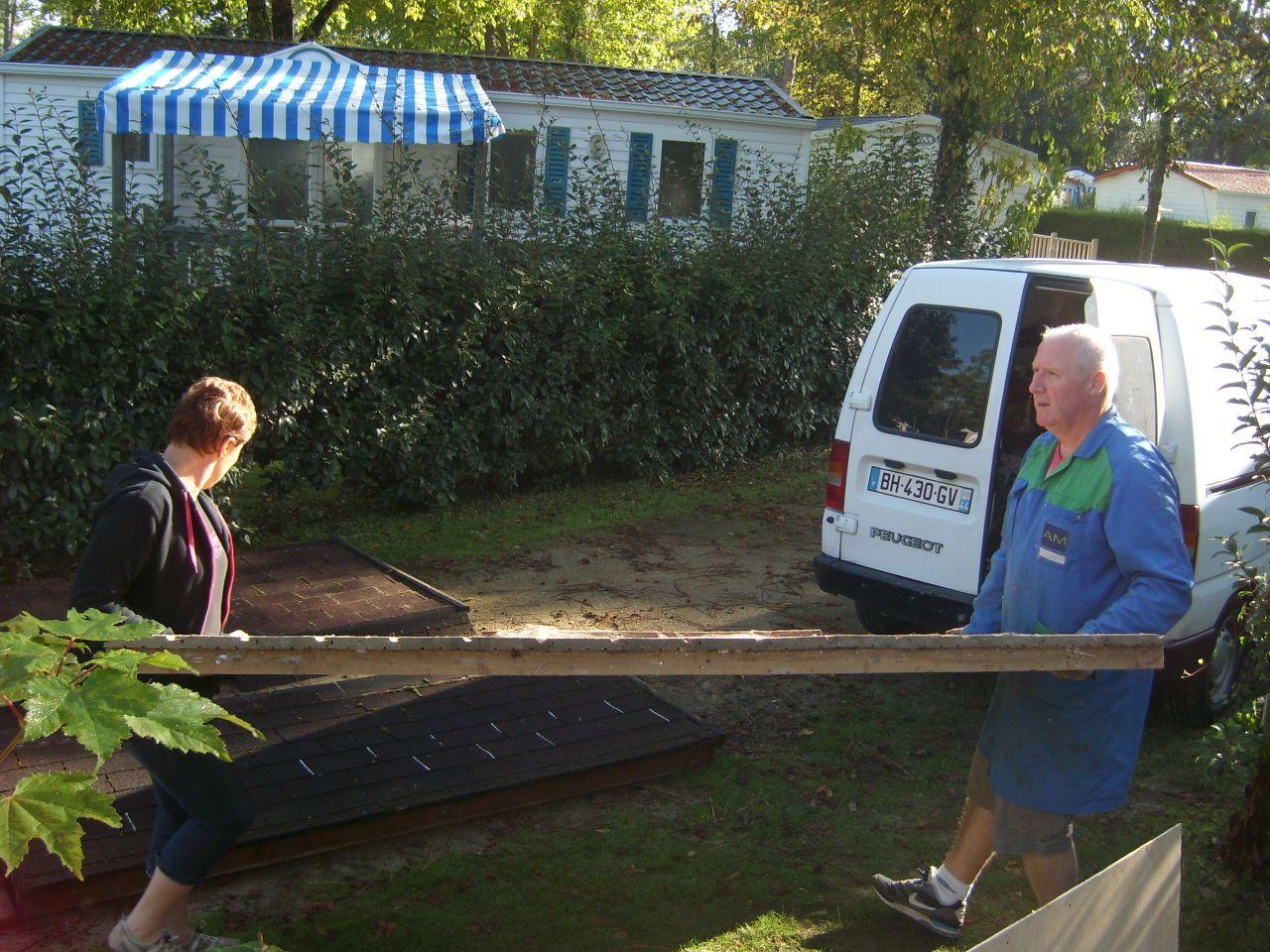 démontage terrasse mobil-home