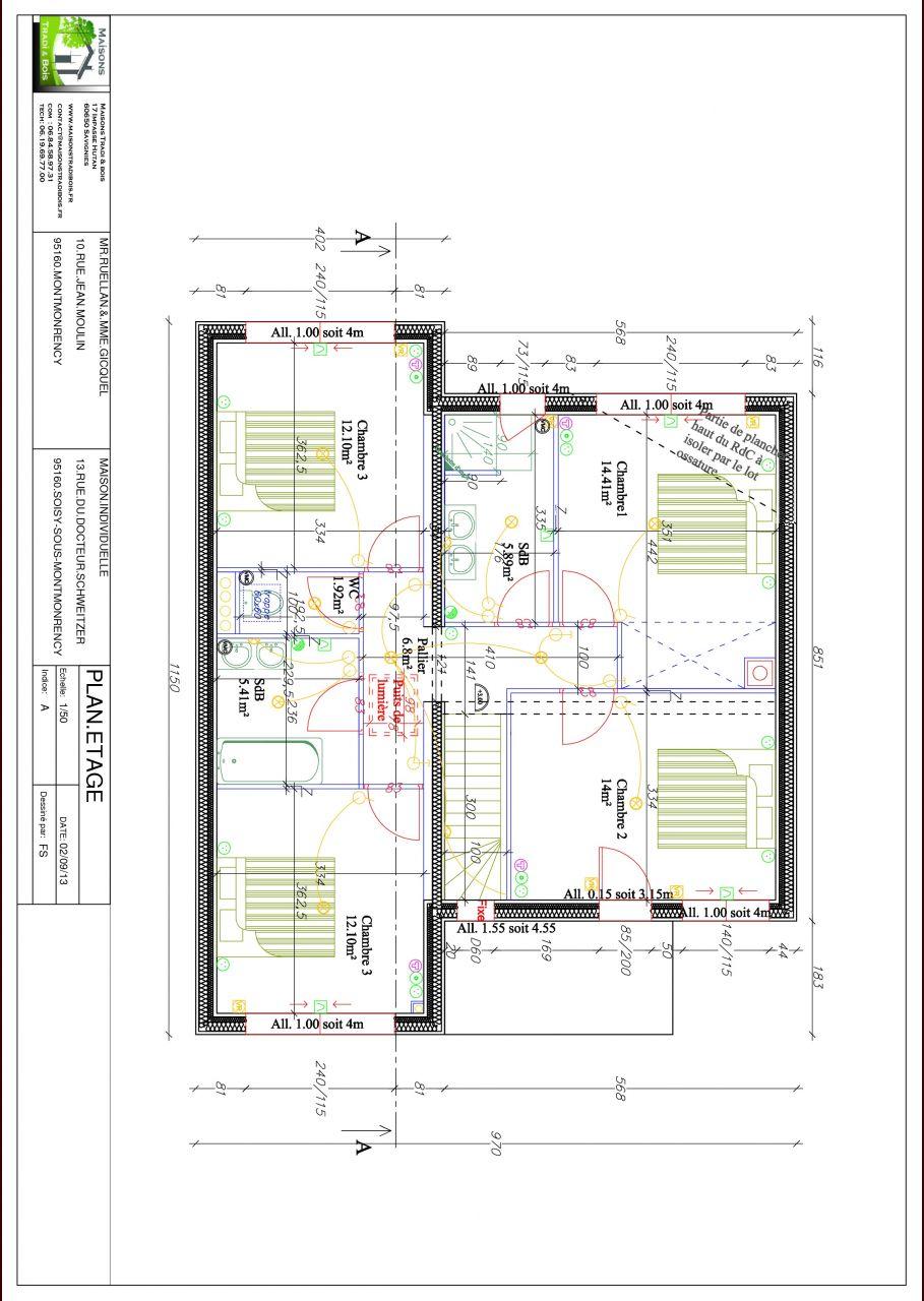 Plan électrique étage
