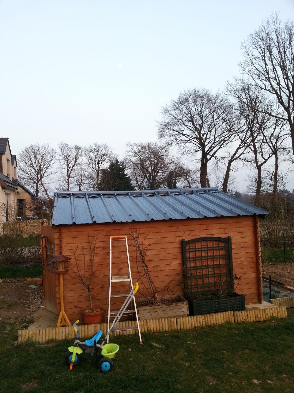 Condensation abris bois et bac acier 8 messages - Toiture pour abri de jardin ...
