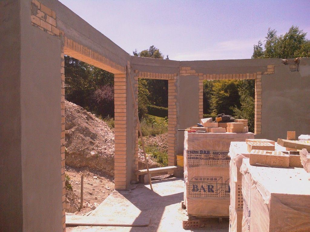 4 juin 2008 terrassement et acc s chantier 9 juin 2008 dalle du sous sol 16 juin 2008 - 4 murs arras ...