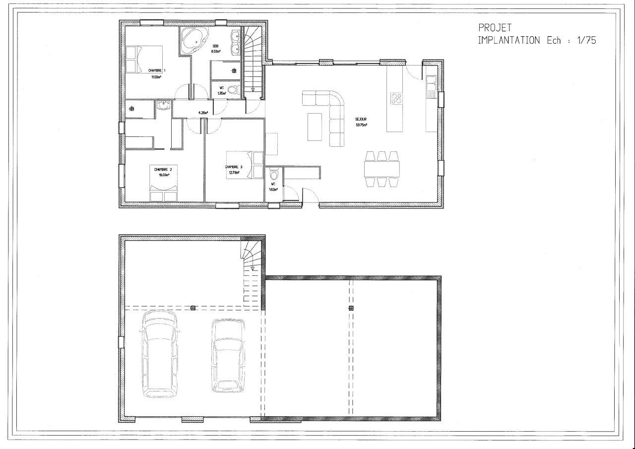 avis sur plan 120 130m plain peid sur sous sol complet. Black Bedroom Furniture Sets. Home Design Ideas