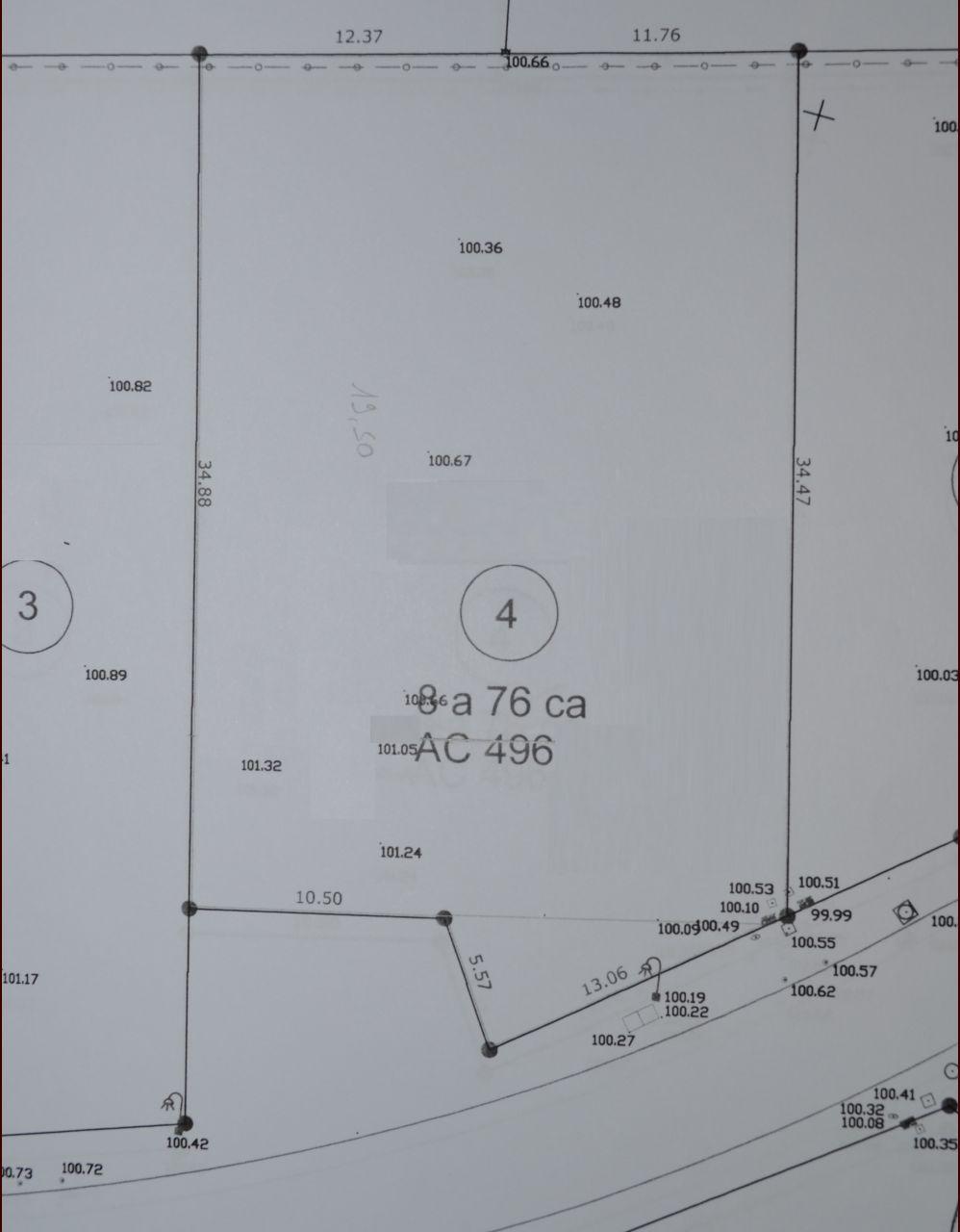 Plan du terrain