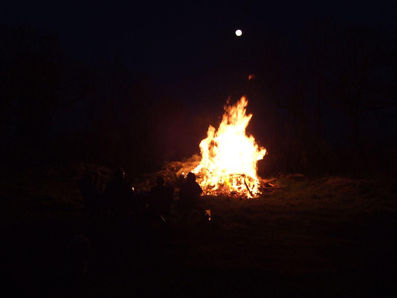 Détente devant le feu de volige