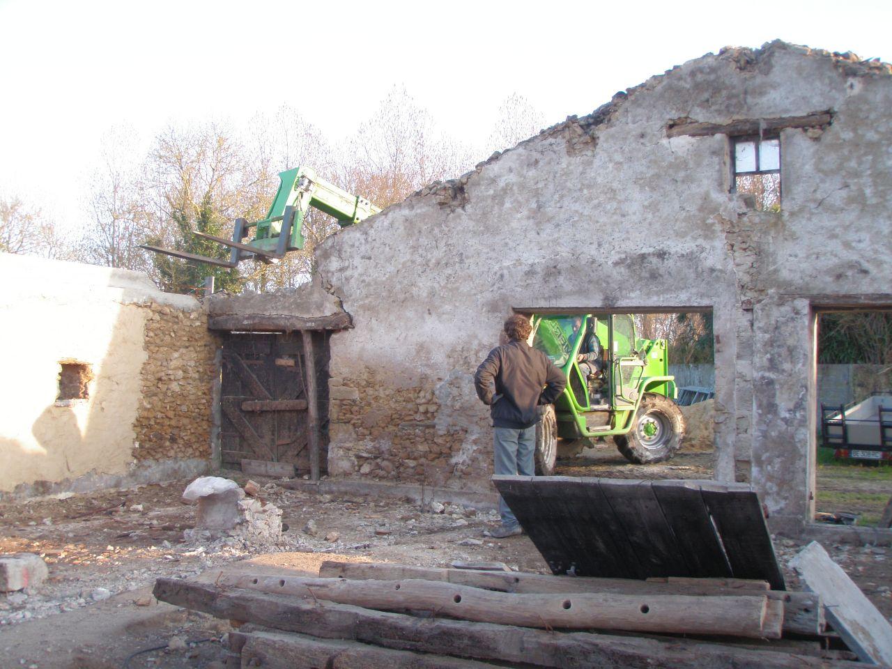 destruction du pignon Sud
