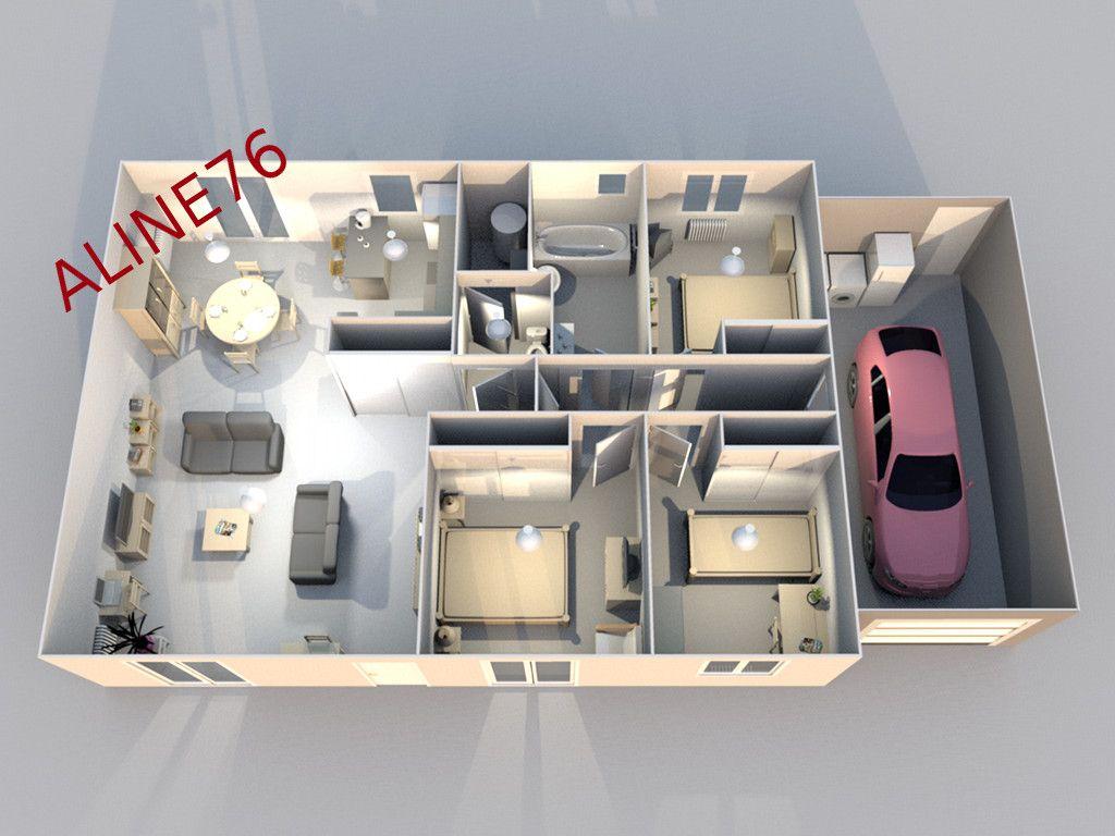 Electricit radiateur chape carrelage seine maritime for Plan 3d interieur maison