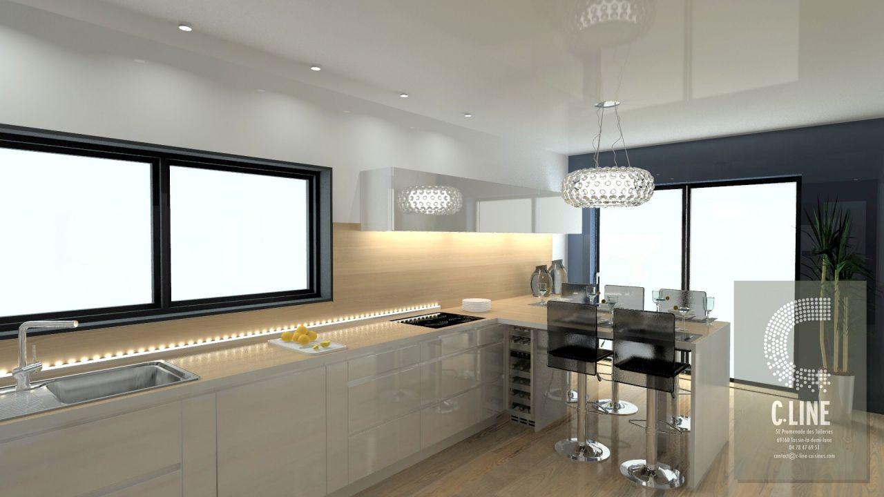 Vue 2 en 3D de la cuisine