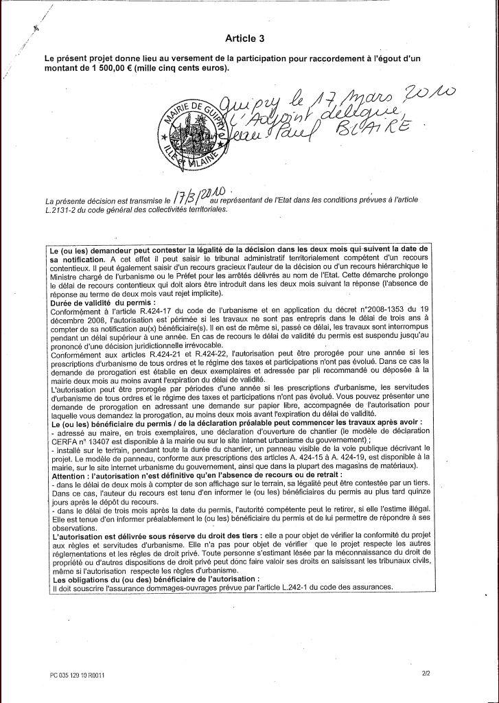 Permis de construire sacr pass foncier pass foncier guipry ille et vil - Forum permis de construire ...