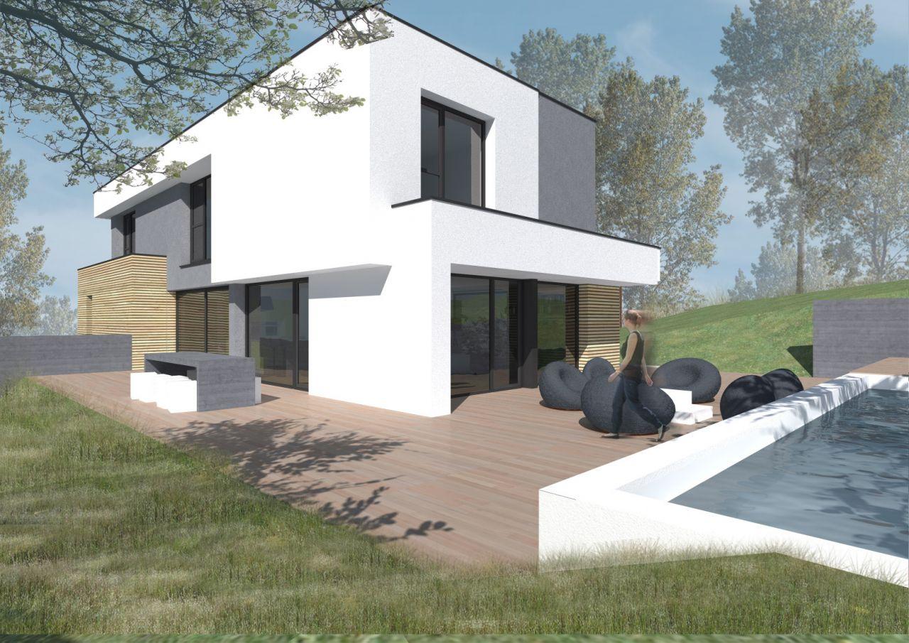 maison contemporaine ossature bois en seine et marne seine et marne. Black Bedroom Furniture Sets. Home Design Ideas