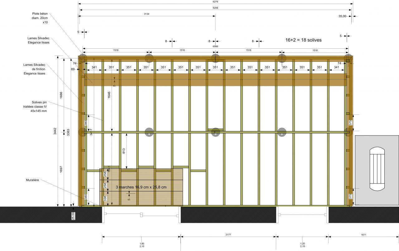 R alisation d une terrasse bois composite silvadec 56 for Pose terrasse bois sur parpaing