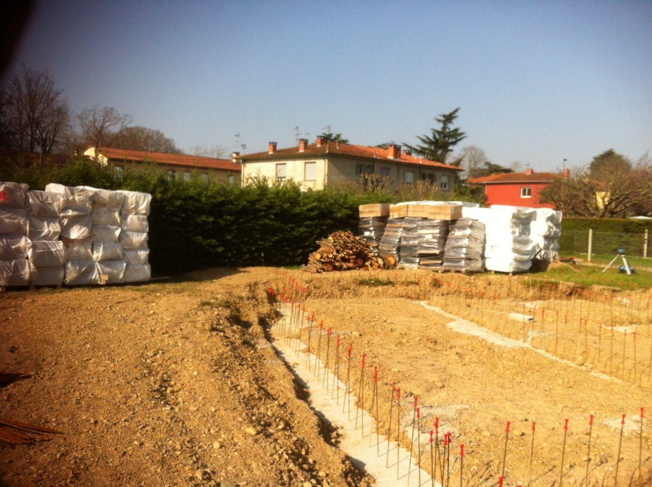 Enfin le soleil !!!  Stockage des blocs