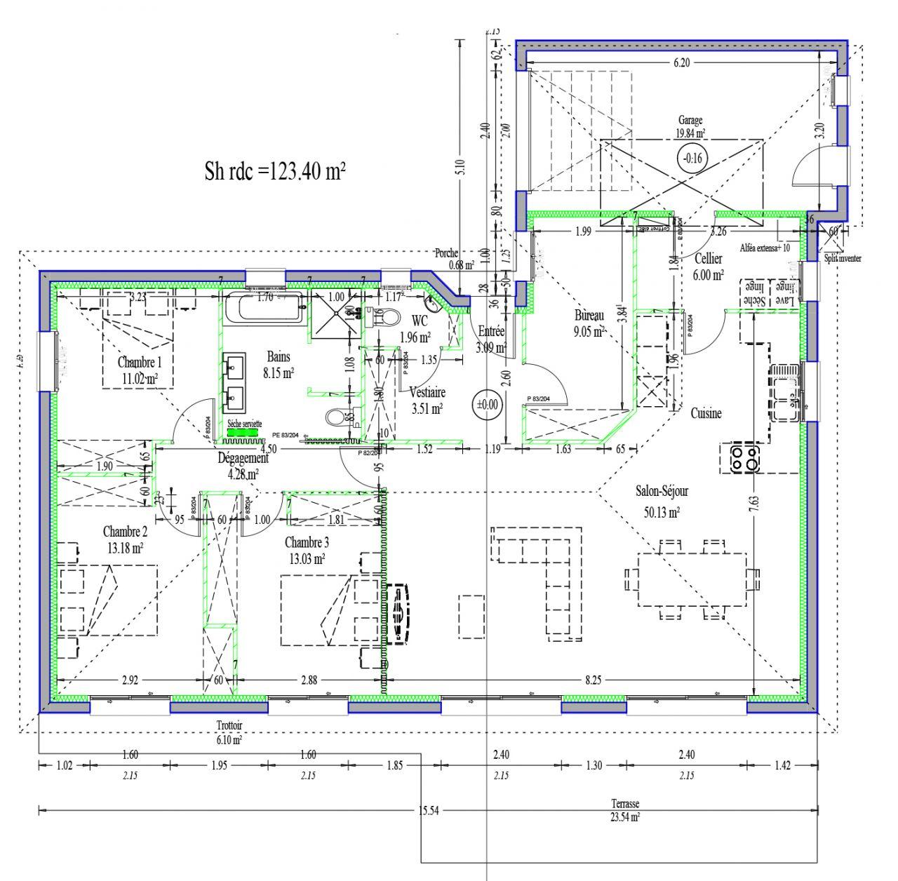 Plan de notre future maison
