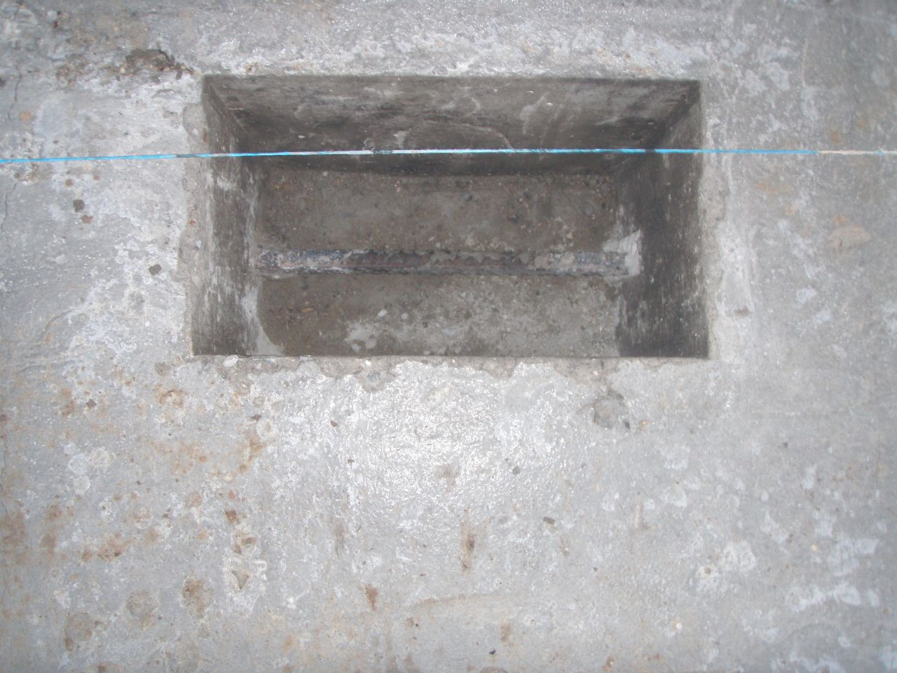 les plots pour supporter la charpente métalique