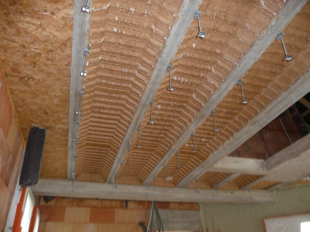 Préparation des supports de plafond type placostyle