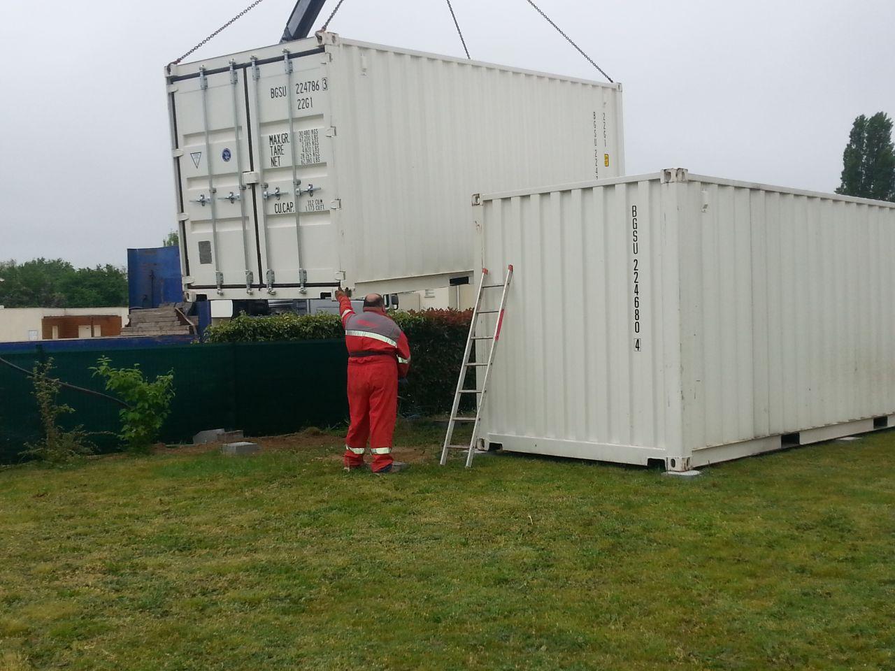 Livraison des containers