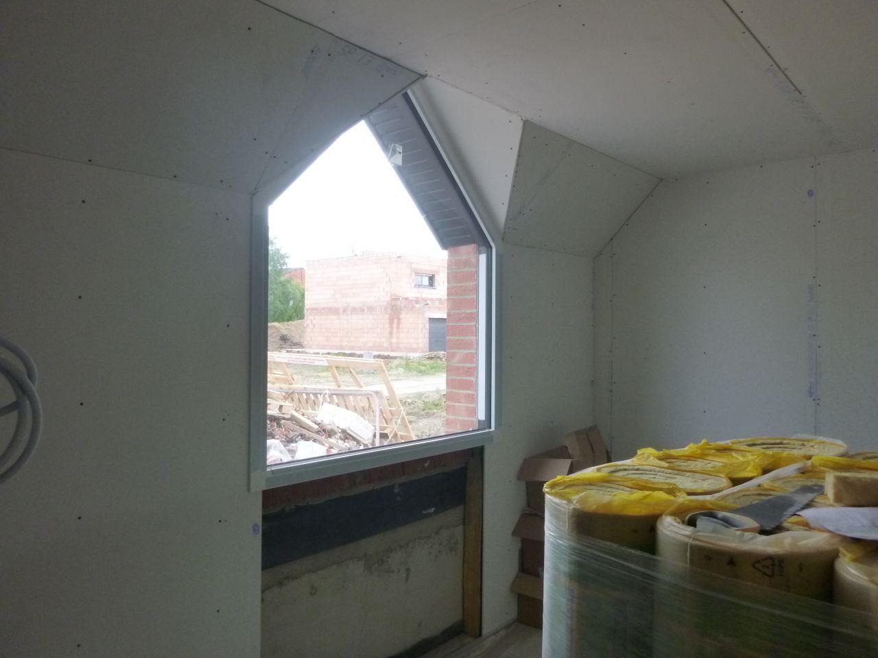 Vue intérieure de la fenêtre en chapelle
