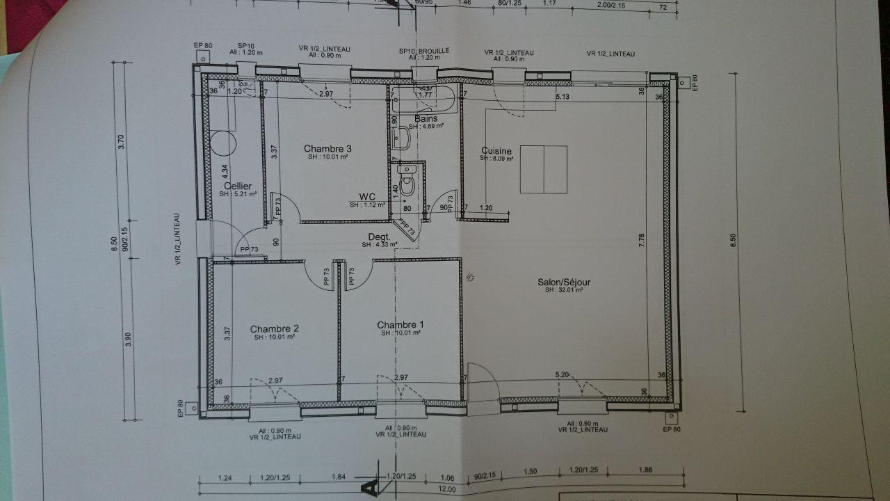 Plan de la maison (85m²)