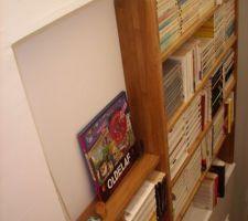 La mini bibliothèque presque achevée